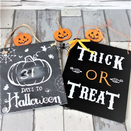 Halloween Signs incl countdown